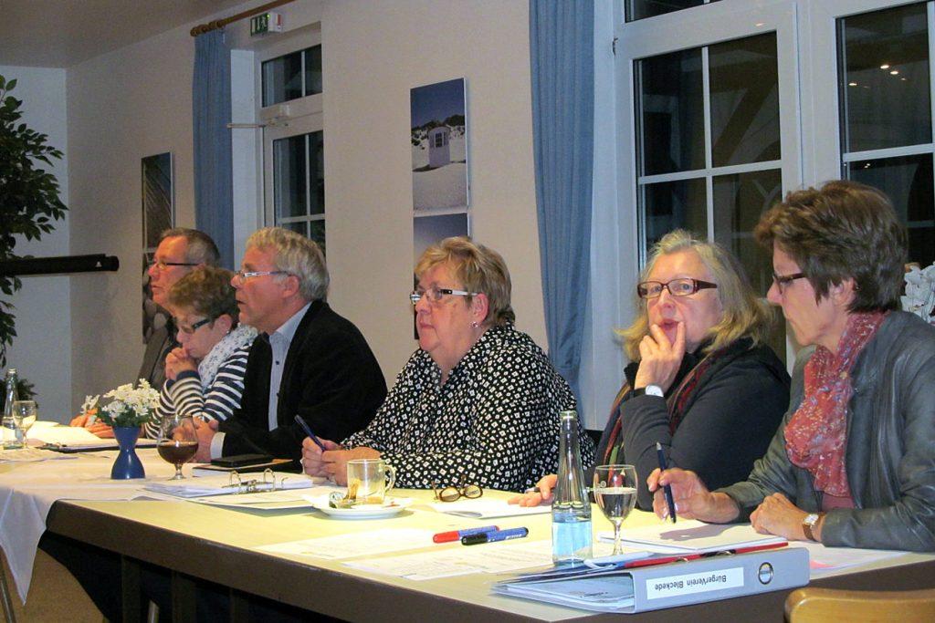 Mitgliederversammlung 2015 Bürgerverein Bleckede