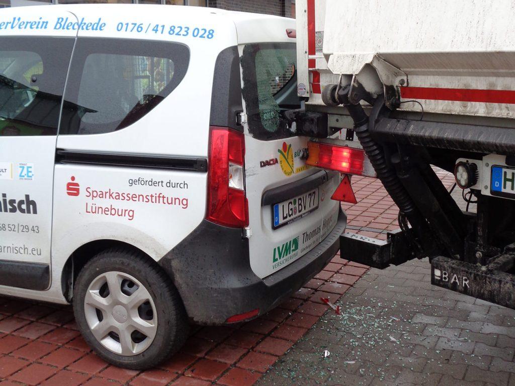 Unfall Bürger-Auto des BürgerVereins Bleckede