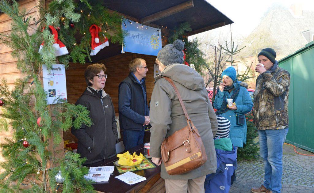 BürgerVerein Bleckede auf den Weihnachtsmarkt 2016