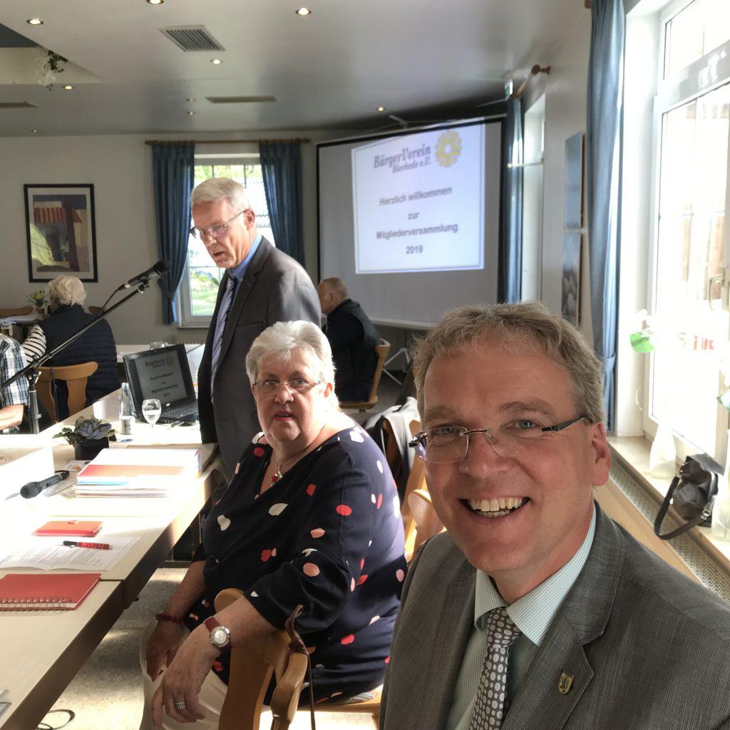 Bürgermeister Jens Böther bei unserer Mitgliederversammlung